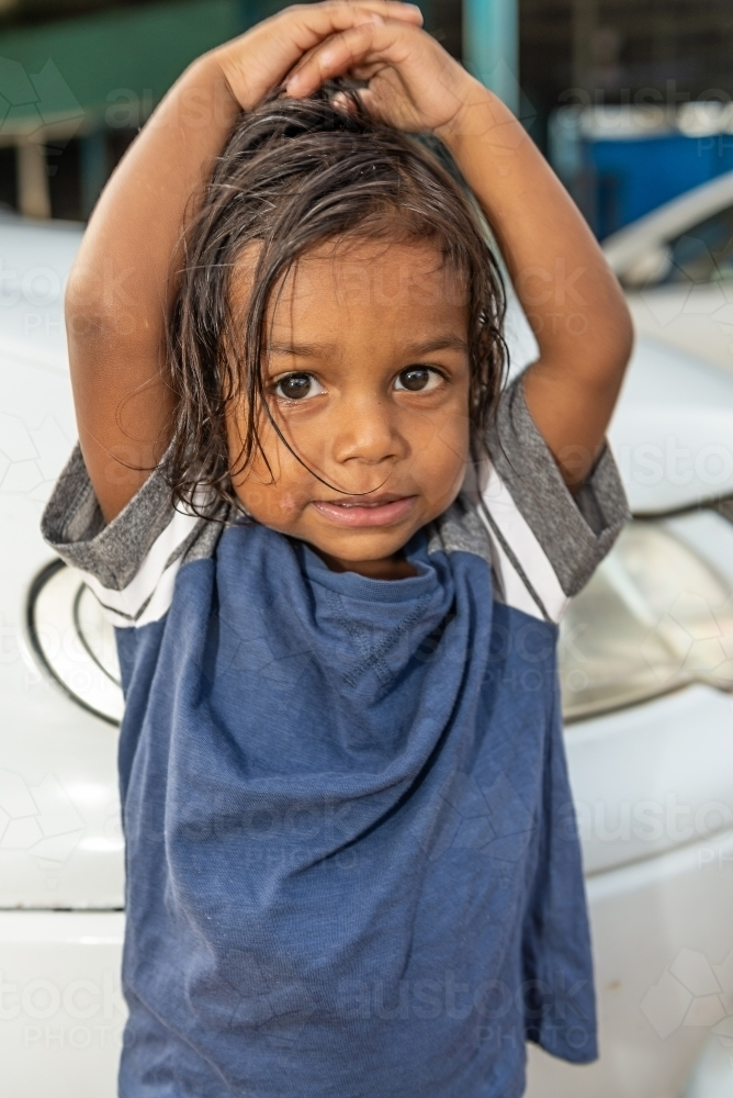 2 year old aboriginal boy - Australian Stock Image
