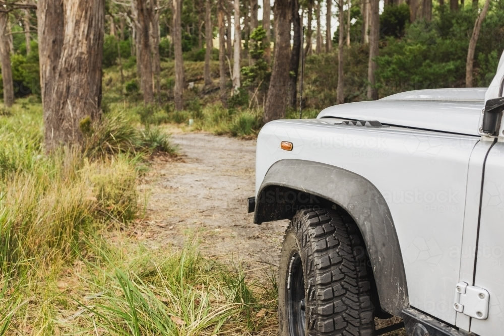 4x4 vehicle on an off road track - Australian Stock Image