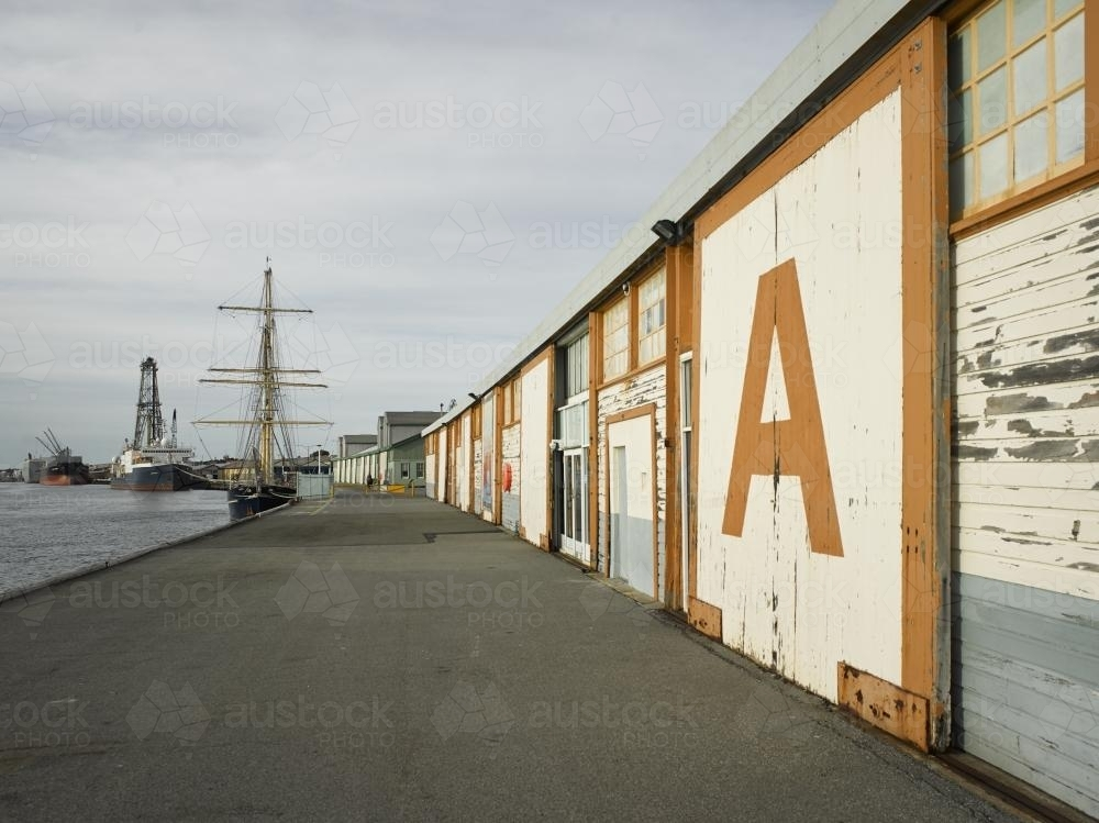 A Shed at Fremantle ports - Australian Stock Image