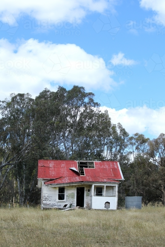 Abandoned farm house - Australian Stock Image