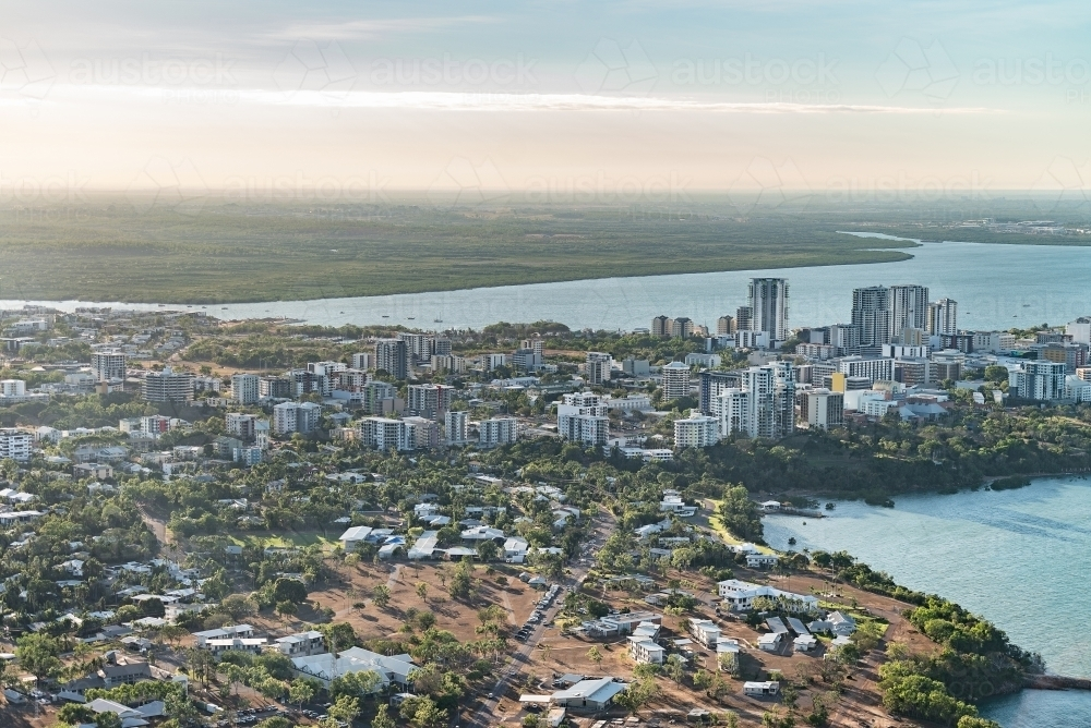 Aerial of Darwin city - Australian Stock Image