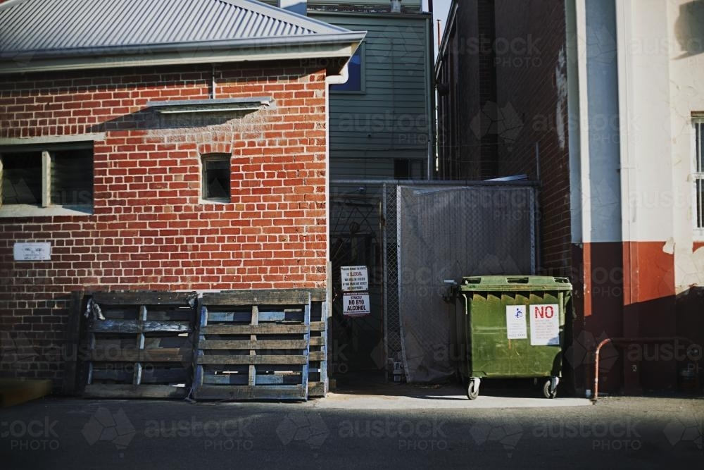 Back Alley Streetscape - Australian Stock Image