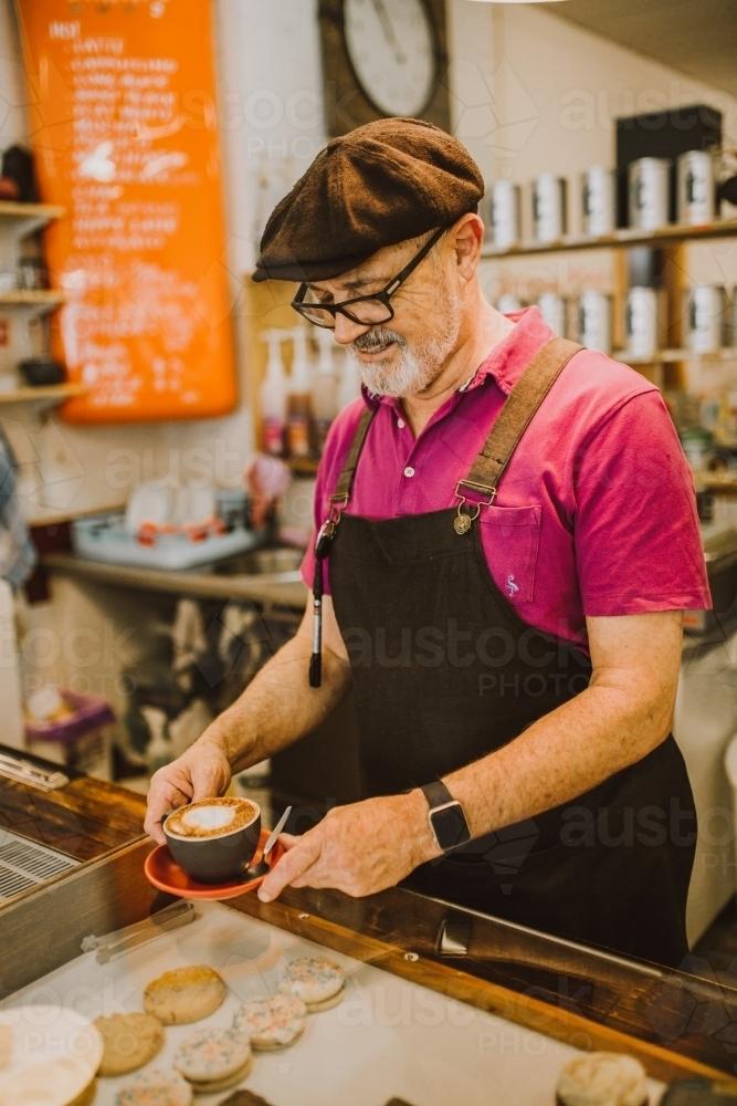 Barista making coffee - Australian Stock Image