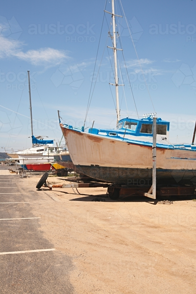 boat on dry land