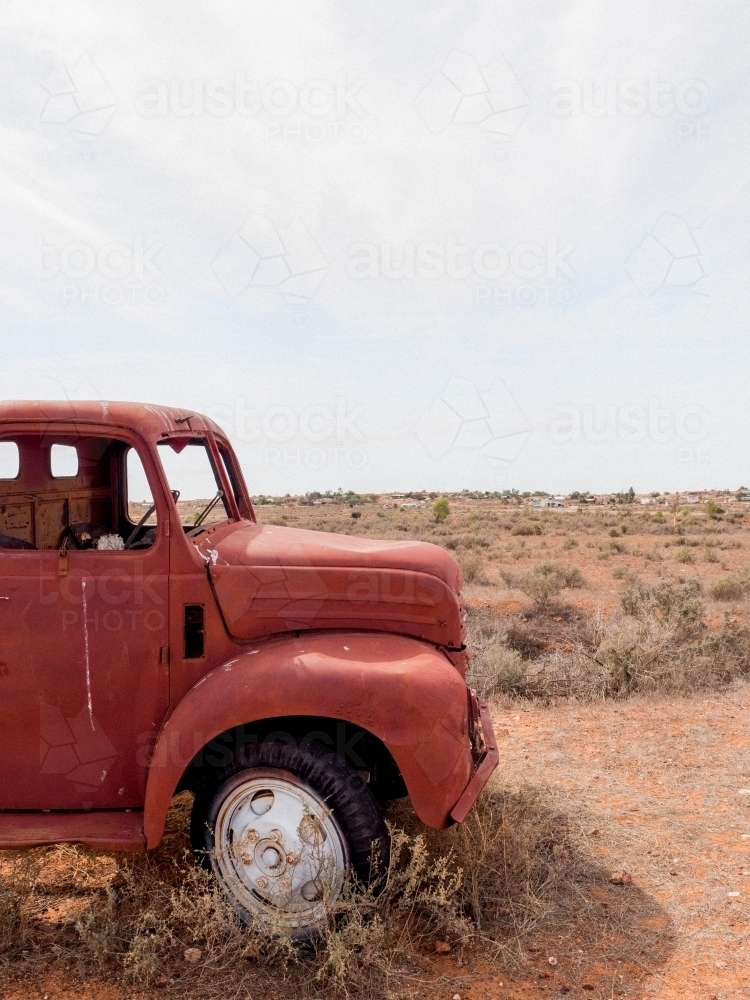 Burnt Out Truck - Australian Stock Image