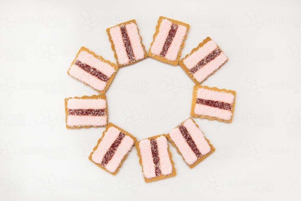 Cicle of Iced Vovo biscuits - Australian Stock Image
