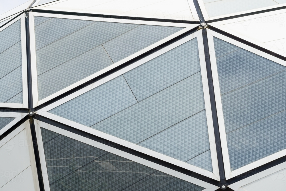 Close up detail of the triangular panels of AAMI park in Melbourne - Australian Stock Image