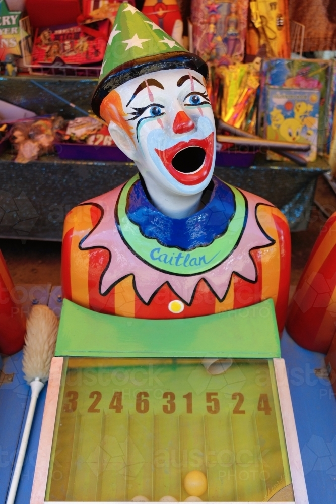 Clown game at country show - Australian Stock Image