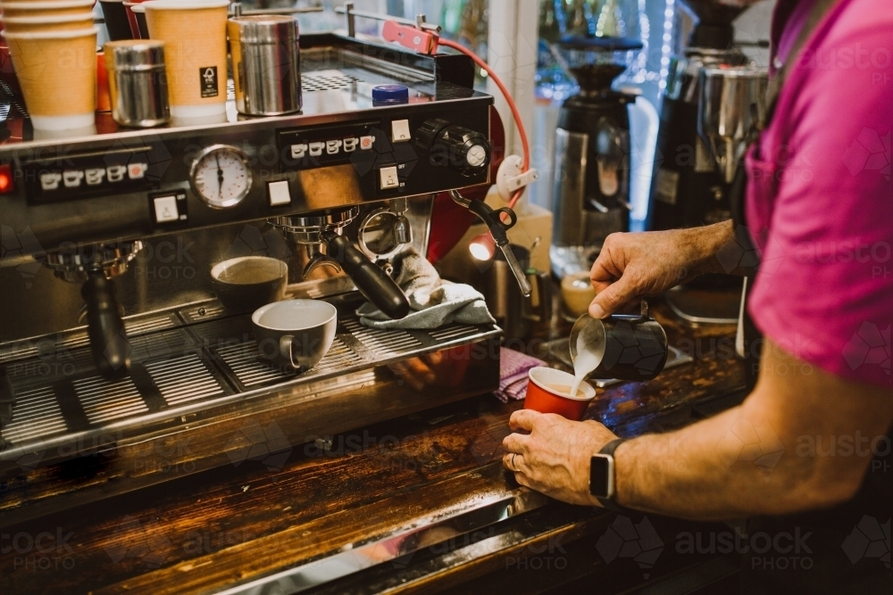 Coffee being made - Australian Stock Image