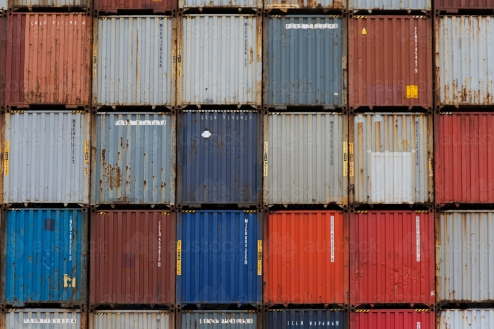 Colourful shipping containers - Australian Stock Image