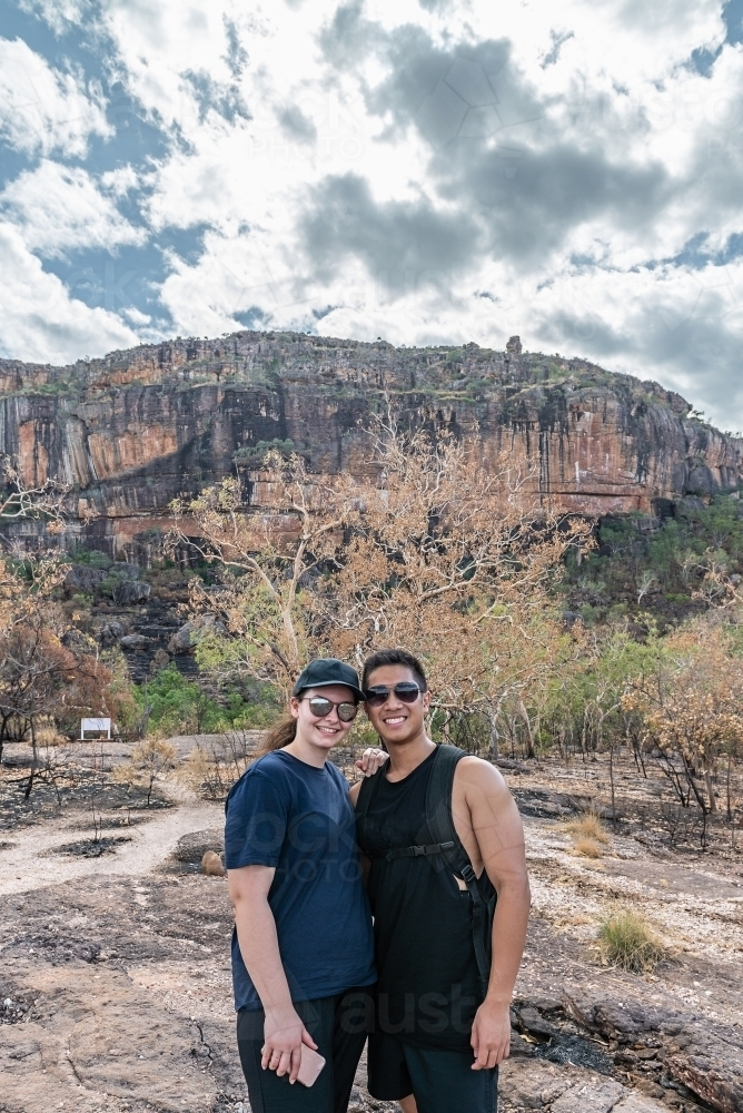Couple at Nourlangie, Kakadu - Australian Stock Image