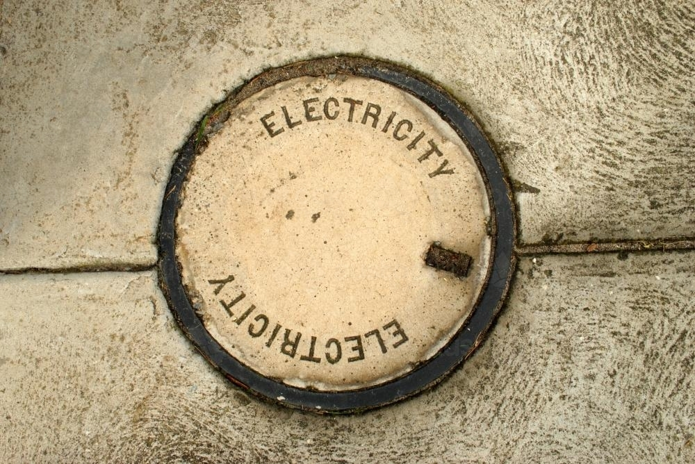 Cover to underground electricity access - Australian Stock Image