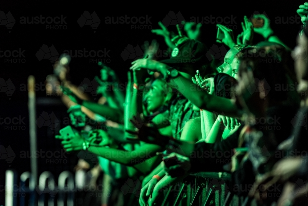 crowd at festival - Australian Stock Image