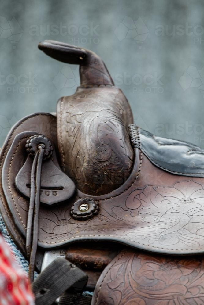 Detail of western style saddle