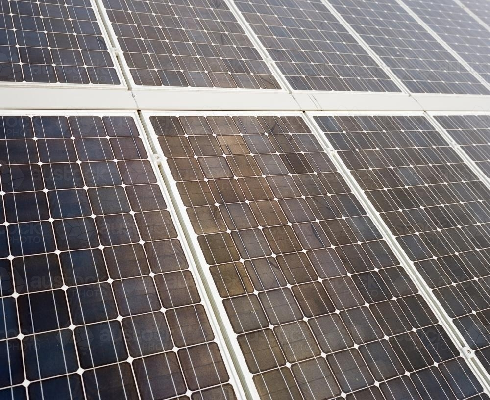 Detail shot of solar panels - Australian Stock Image
