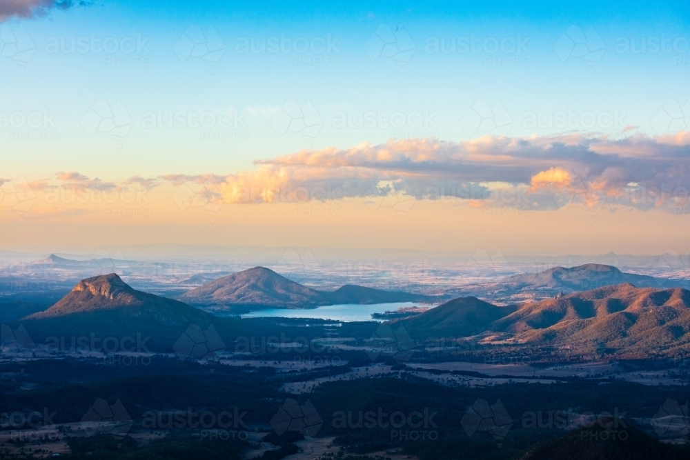 Dusk over the Scenic Rim area - Australian Stock Image