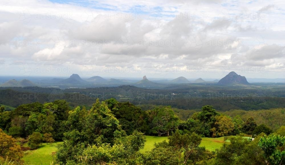 Glass House Mountains - Australian Stock Image