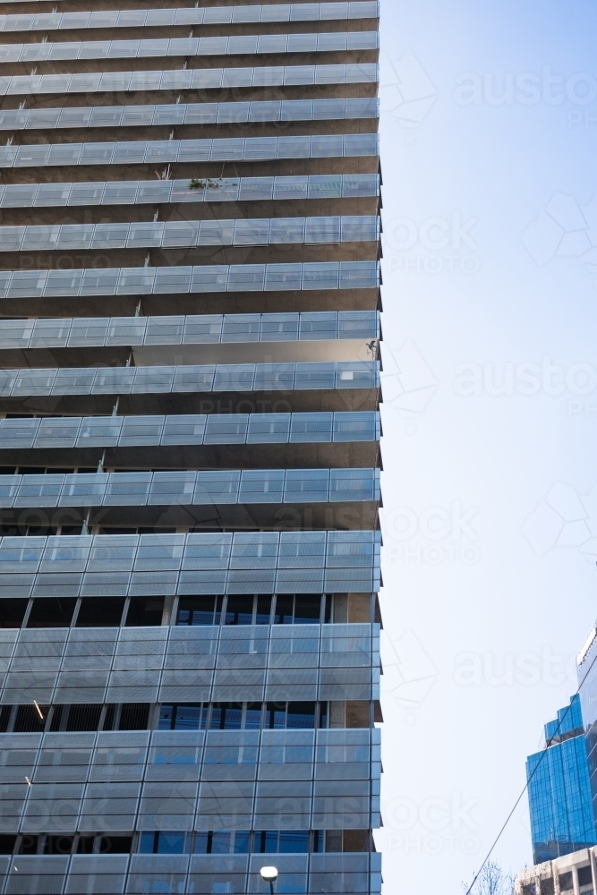 Hi-rise office building in CBD with cladding - Australian Stock Image