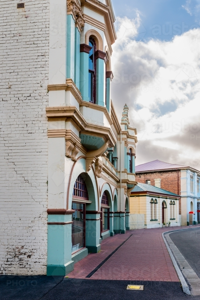 historic art deco buildings, Zeehan, west Tasmania - Australian Stock Image