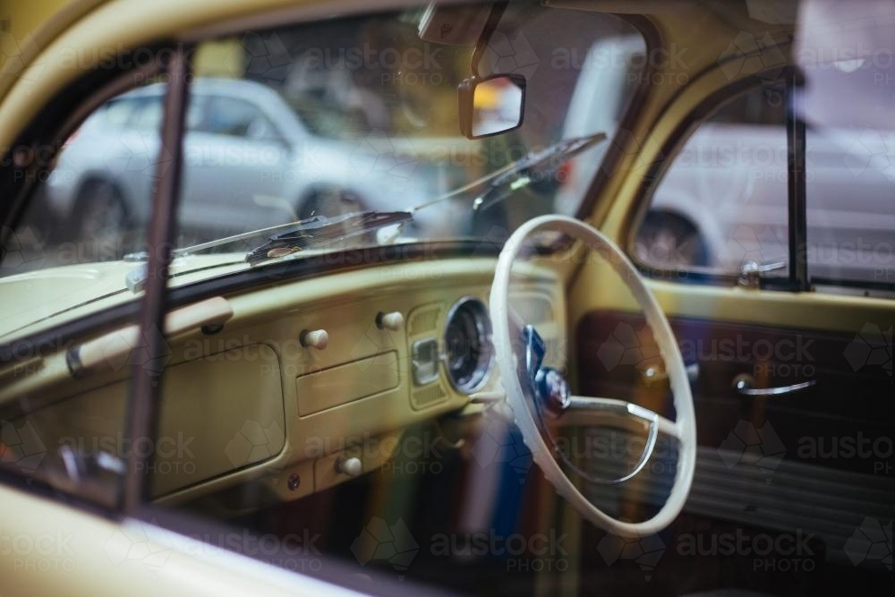 Interior of Vintage Car - Australian Stock Image