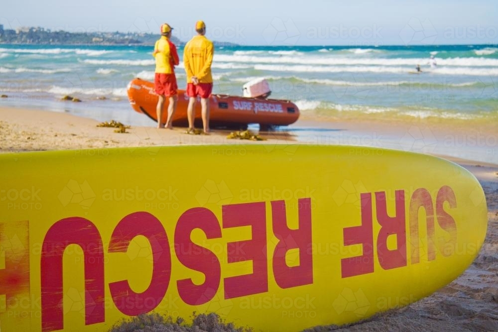 Life guards on duty at a beach - Australian Stock Image