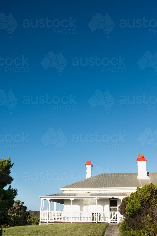 Light house keepers house - Australian Stock Image