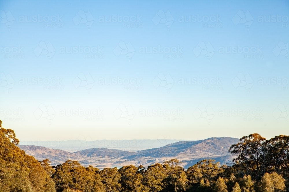Looking towards Lake St Clair in Carrowbrook, New South Wales - Australian Stock Image