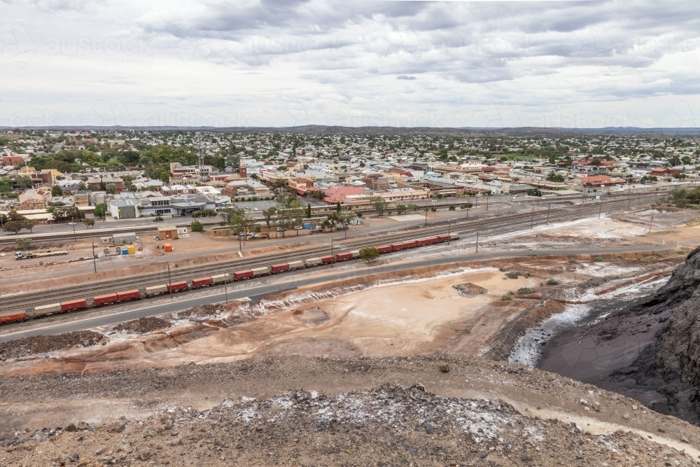 Mining town from above - Australian Stock Image
