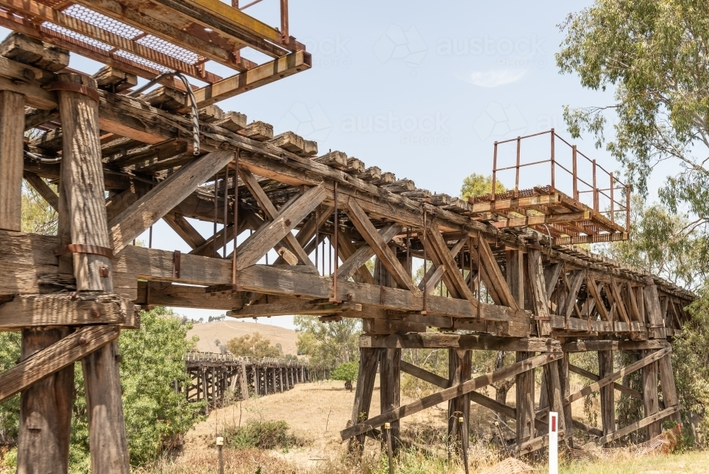 Murrumbidgee River Railway Bridge - Australian Stock Image