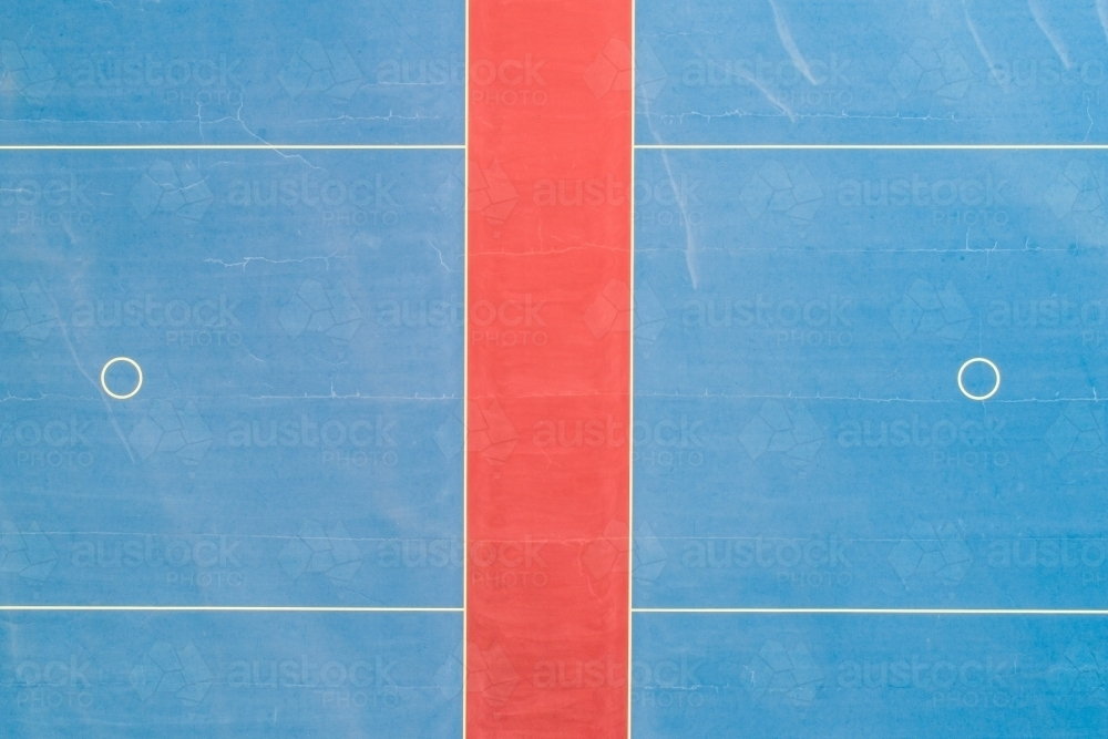 Netball courts patterns. - Australian Stock Image