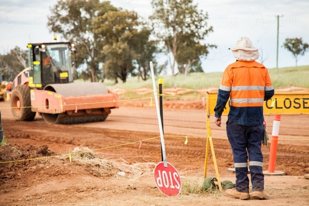New highway being built in Trewilga - Australian Stock Image