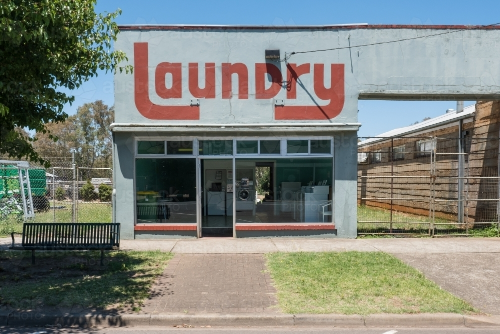 Old laundry in country town - Australian Stock Image