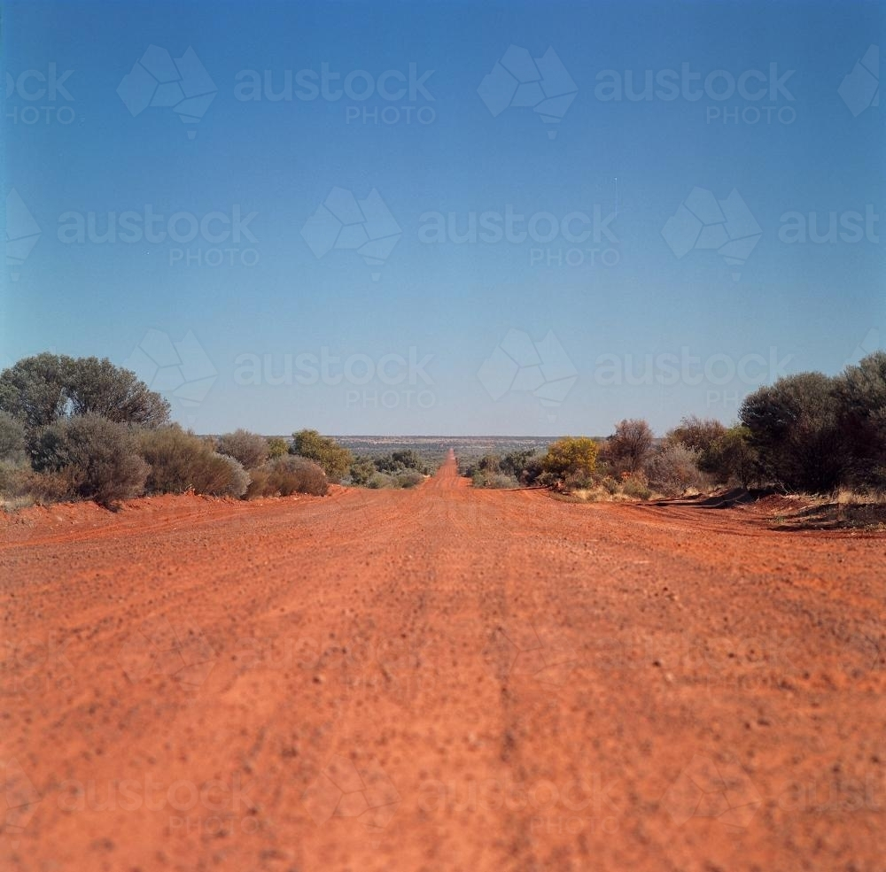 Outback Road, Red Earth Australia - Australian Stock Image