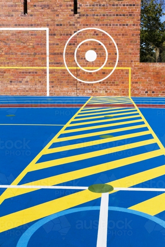 Outdoors sport court in the park - Australian Stock Image