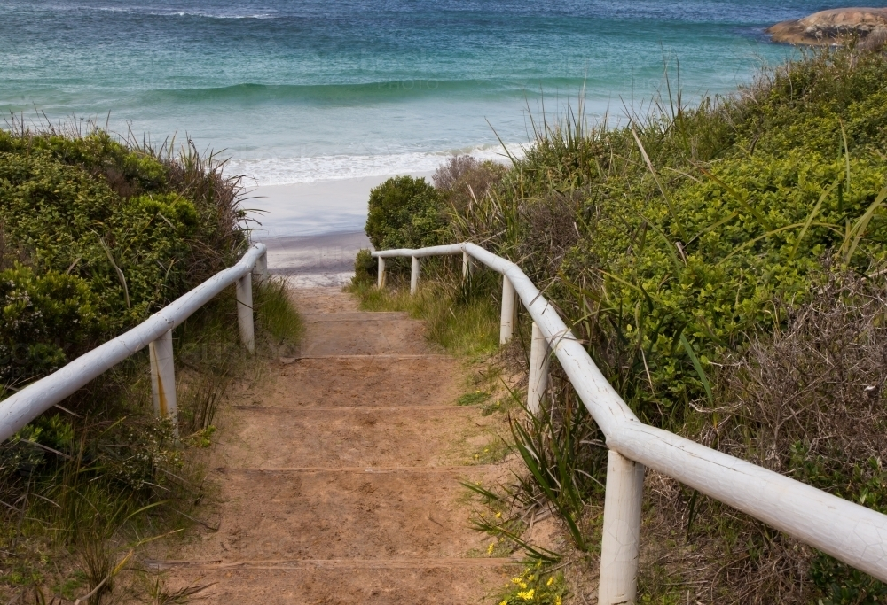 Path leading to waterfall beach, william bay national park, great southern ocean - Australian Stock Image
