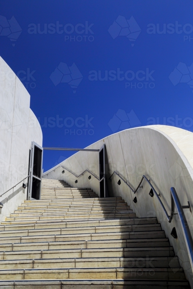 Patterns and curves of modern building design. - Australian Stock Image
