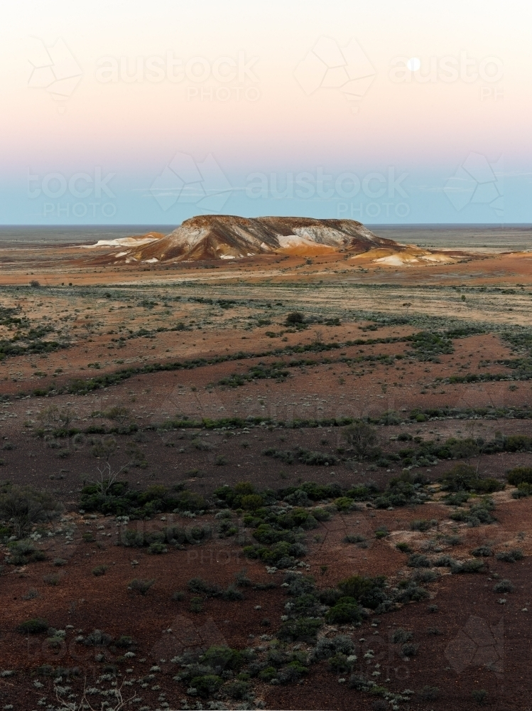 Plains and hills at the breakaways - Australian Stock Image