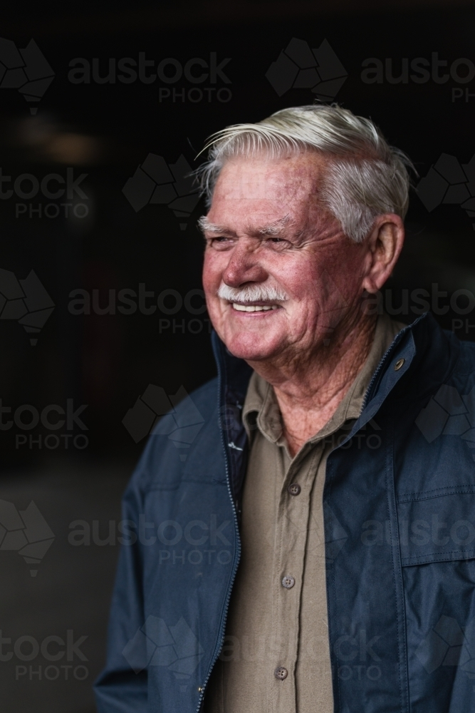 portrait of an older, senior man - Australian Stock Image