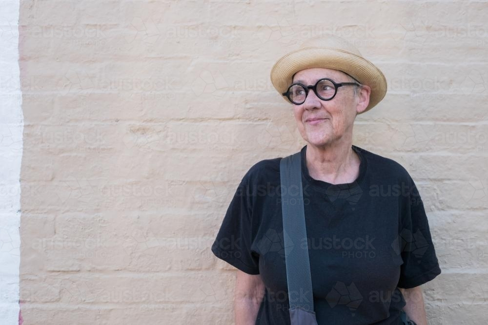 Portrait of quirky senior - Australian Stock Image