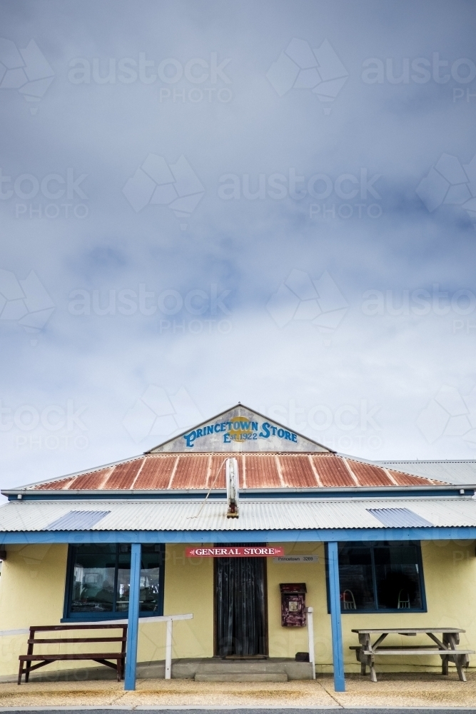 Prince town general store and post office - Australian Stock Image