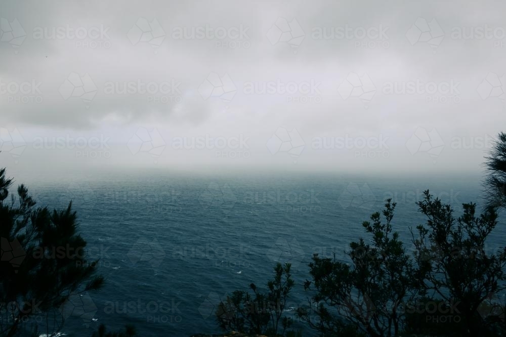 Rain Over Sea - Australian Stock Image