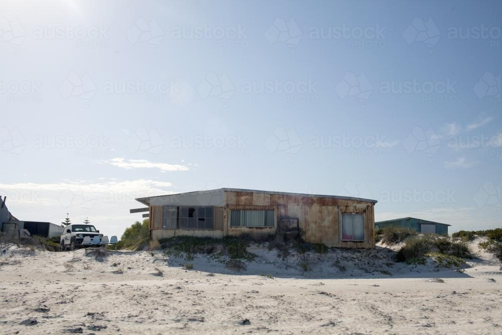 Remote beach house - Australian Stock Image