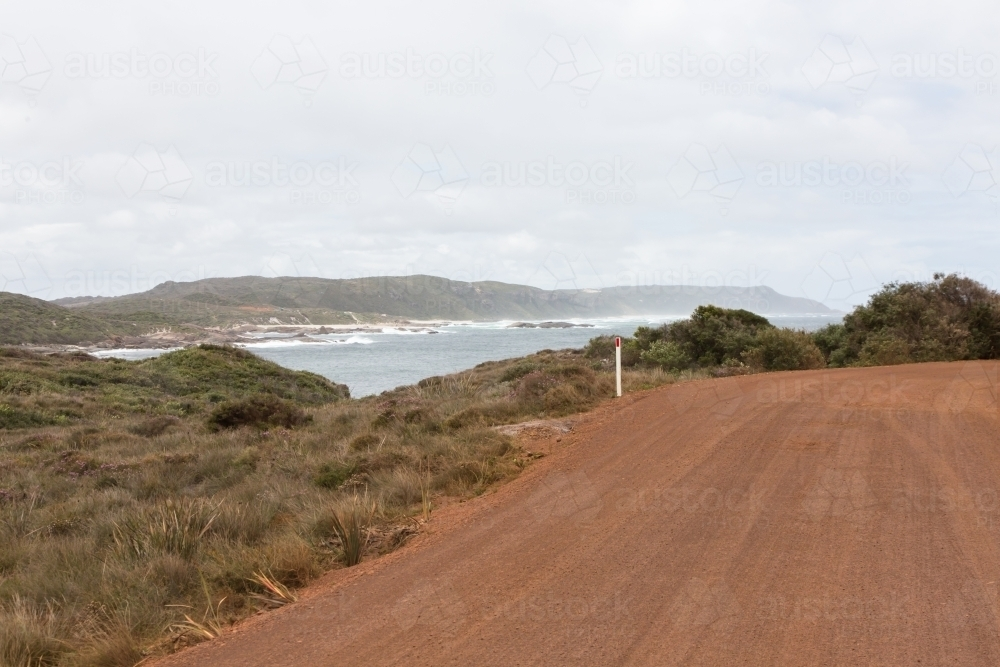 road leading to waterfall beach, william bay national park. western australia - Australian Stock Image