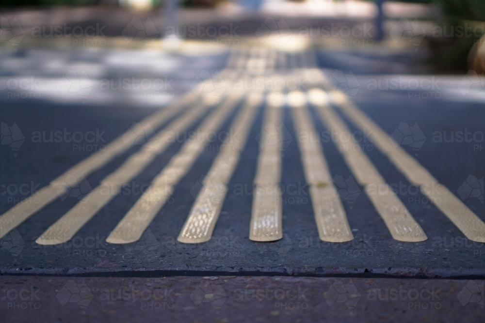 Rubber strips on the footpath - Australian Stock Image