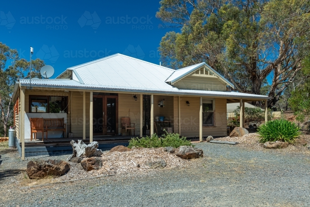 Rural Victorian House - Australian Stock Image