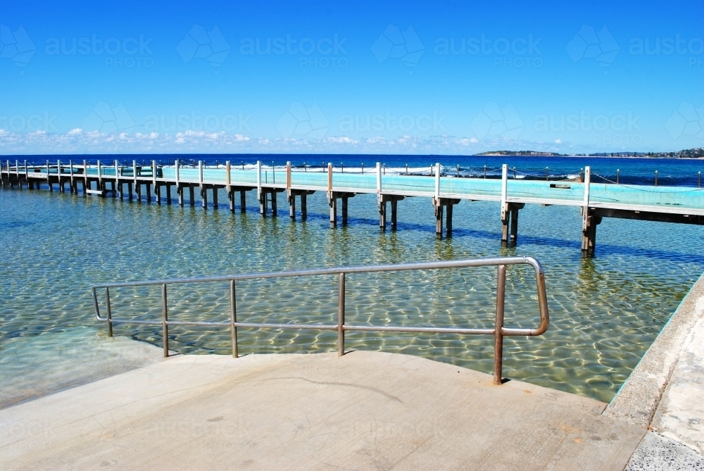 Salt water pool at North Narrabeen Beach - Australian Stock Image