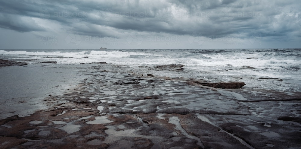 Seascape on a stormy day - Australian Stock Image