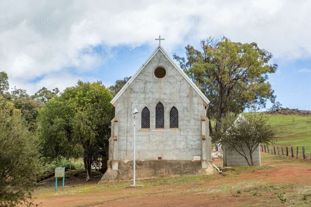 Small Country Church With Cross And Bell