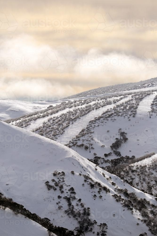 Snow Mountain Landscape - Australian Stock Image
