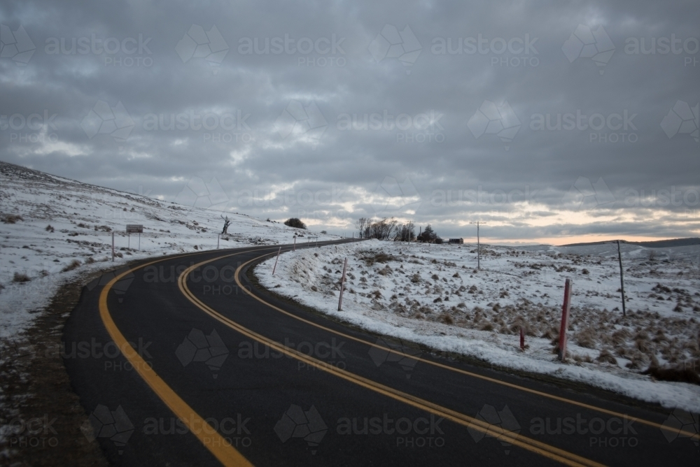 Snowy Highway - Portrait - Australian Stock Image